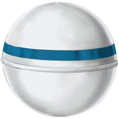 18 in. Dia. Mooring Buoy with 2.5 in. Tube and 87 lb. Buoyancy in White with Blue Reflective Tape