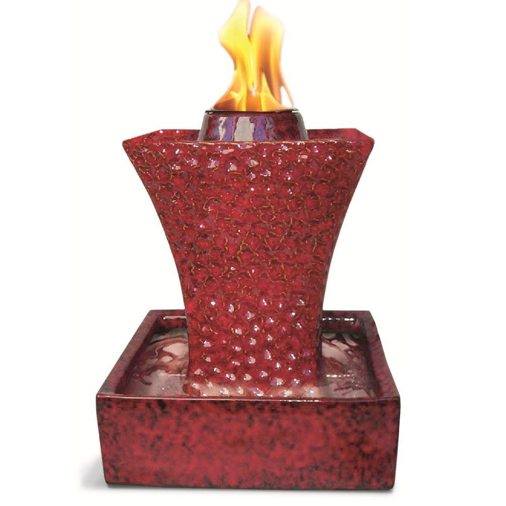 Pacific Decor Concave Flame Fountain in Ruby Red-DISCONTINUED