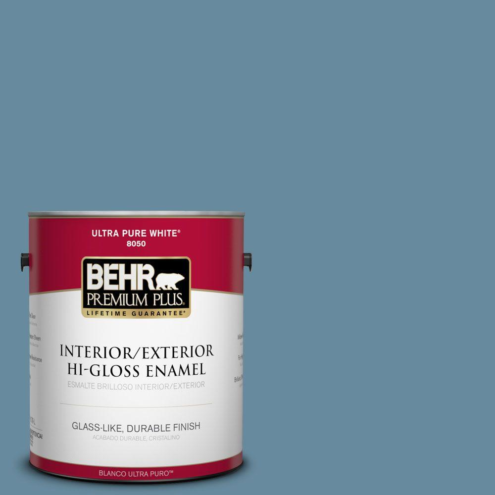 1-gal. #550F-5 Winter Lake Hi-Gloss Enamel Interior/Exterior Paint