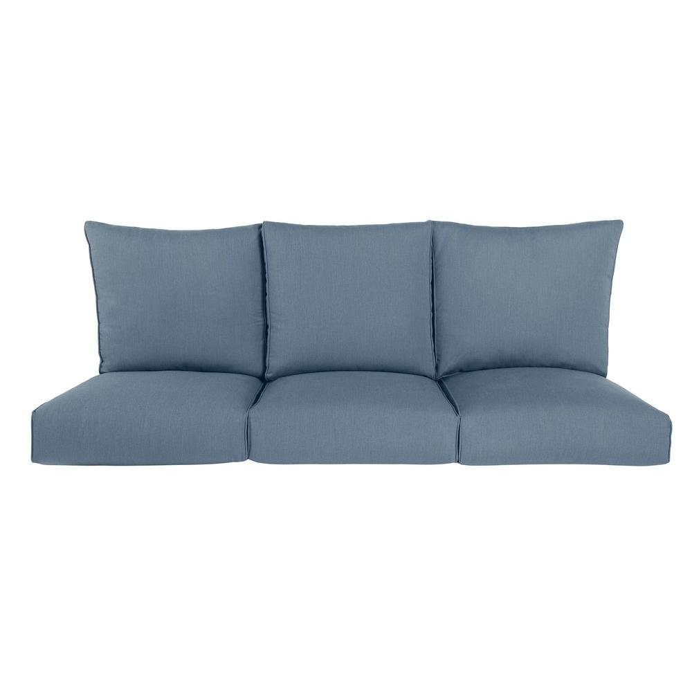 Highland Replacement Outdoor Sofa Cushion in Denim