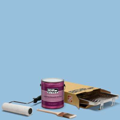 1 gal. #M520-3 Charismatic Sky Ultra Eggshell Enamel Interior Paint and 5-Piece Wooster Set All-in-One Project Kit