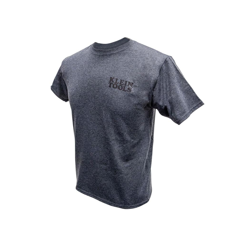 Klein tools men 39 s size x large gray cotton hanes tagless for 100 cotton t shirts shrink