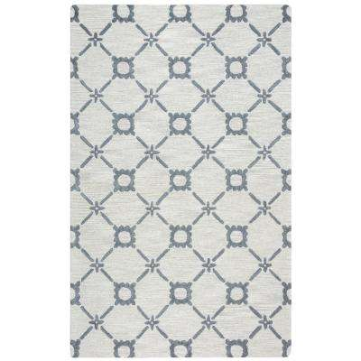Luniccia Ivory/Gray Hand Tufted Wool 9 ft. x 12 ft. Area Rug