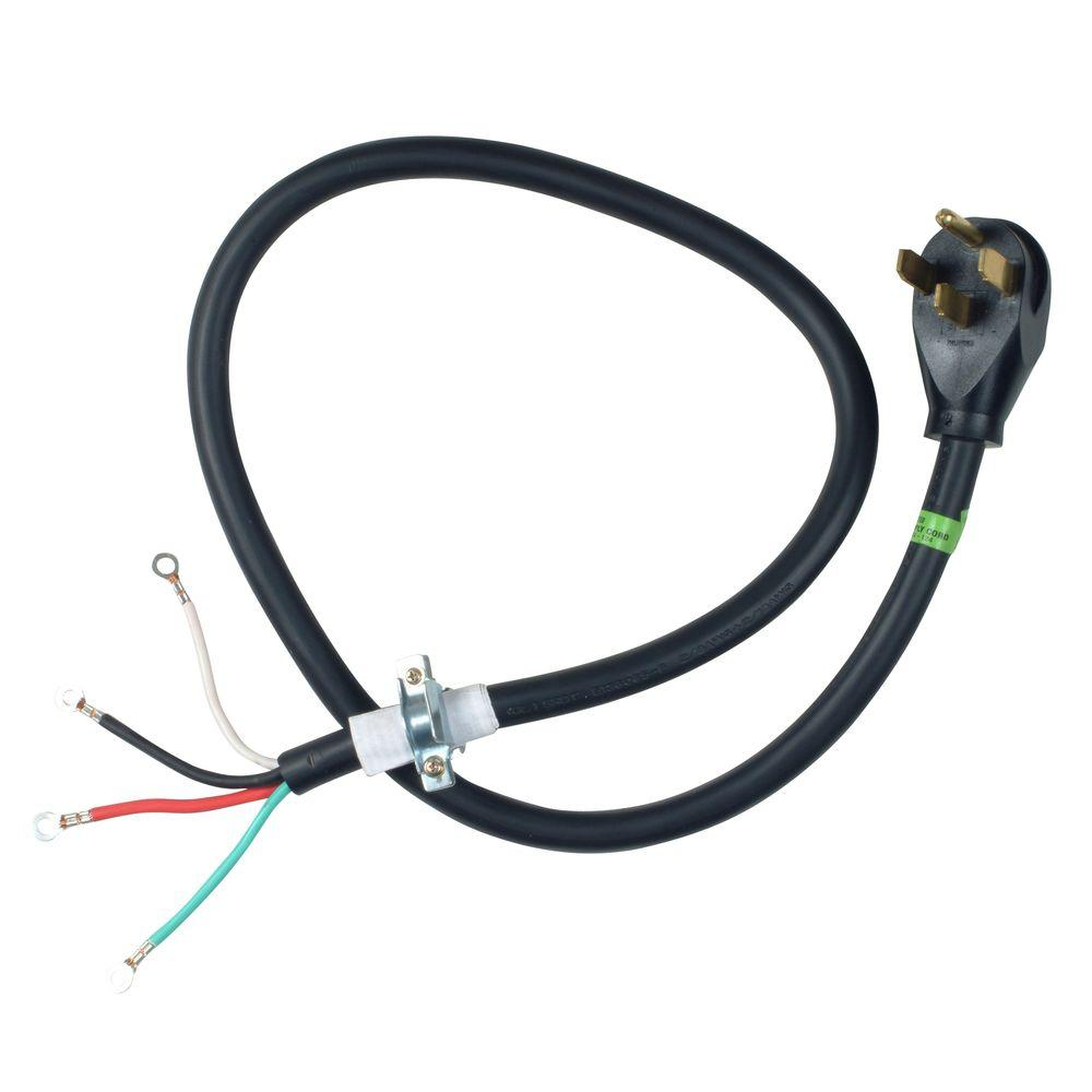 whirlpool dryer parts pt400l 64_1000 whirlpool 4 ft 4 wire 30 amp dryer cord pt400l the home depot 30 amp 4 wire plug wiring diagram at panicattacktreatment.co