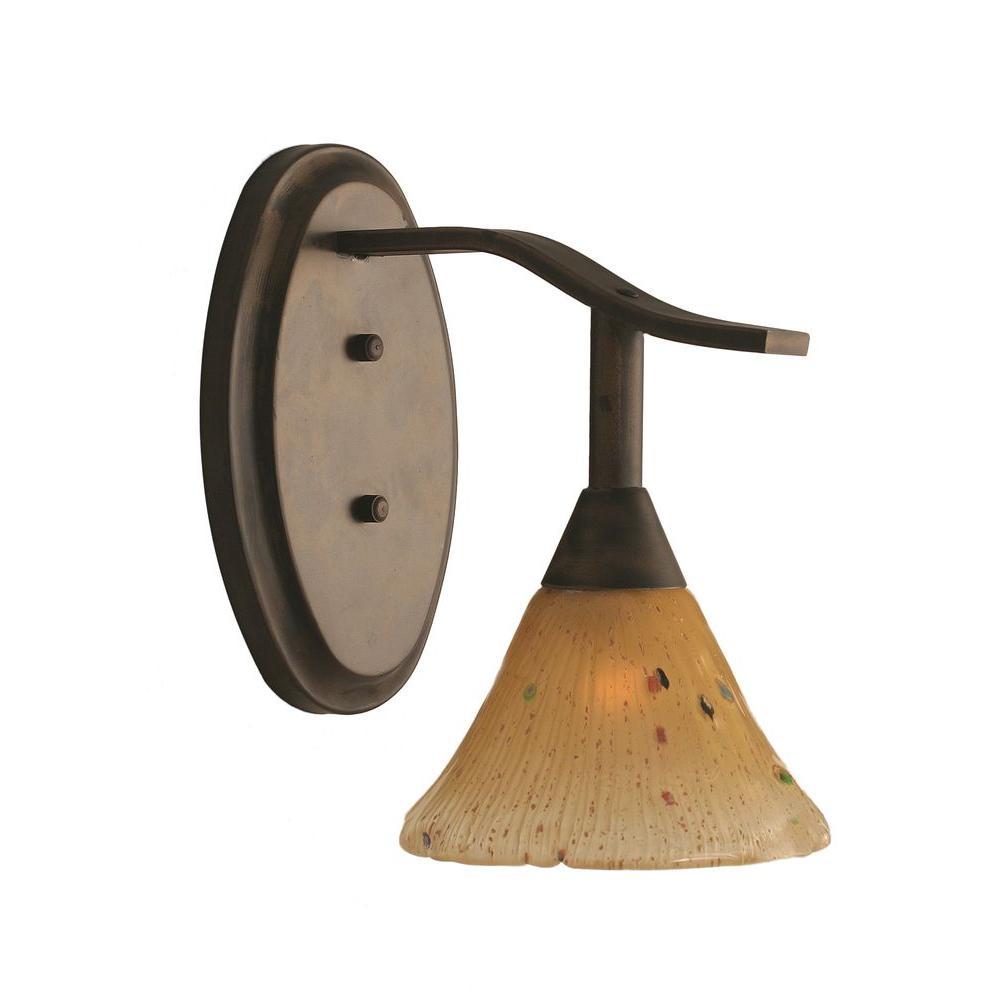 Filament Design Concord 1 Light Ceiling Bronze Incandescent Bath Vanity-DISCONTINUED