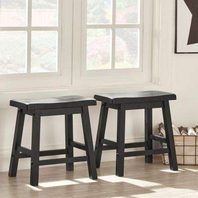 Elliot 18 in. Midnight Black Bar Stool