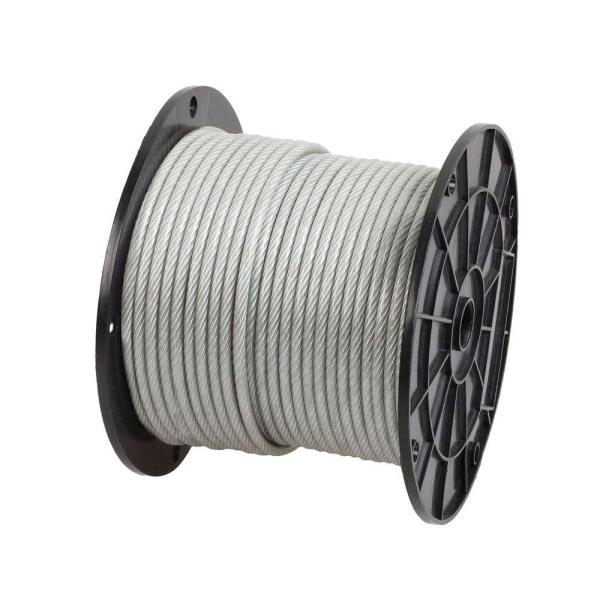 1/4 in. x 200 ft. Galvanized Vinyl Coated Steel Wire Rope