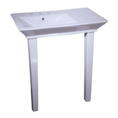 Aristocrat 19-3/8 in. Console Table in White