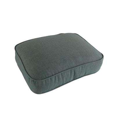 Lily Bay/Lake Adela Outdoor Ottoman Cushion in Teal