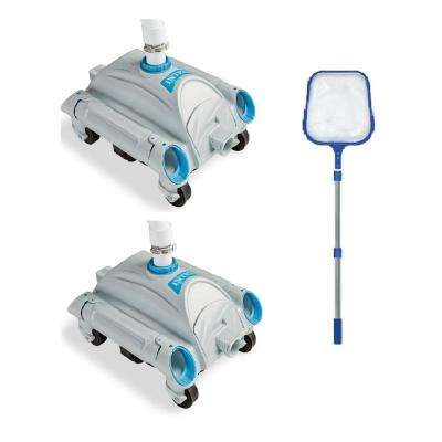 Pressure Side Vacuum (2-Pack) with 4 ft. Telescopic Pool Skimmer Pool Cleaner