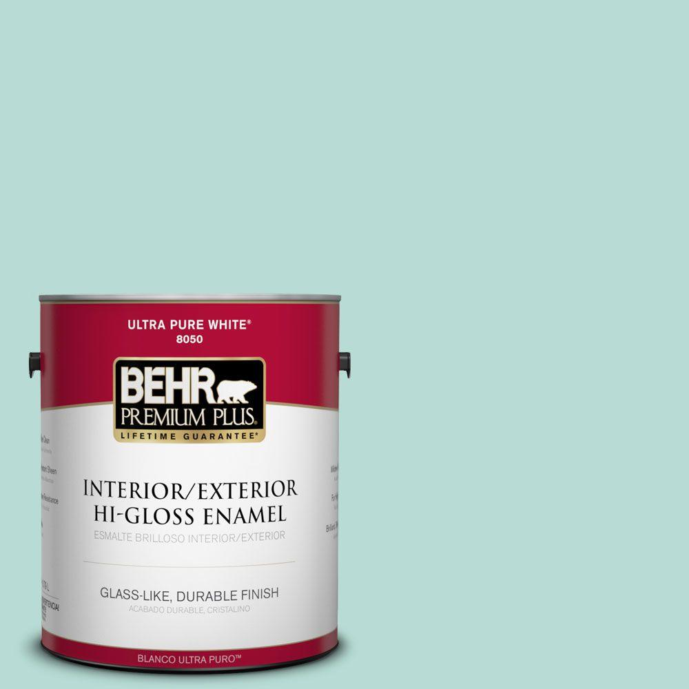 1-gal. #490C-3 Balmy Seas Hi-Gloss Enamel Interior/Exterior Paint