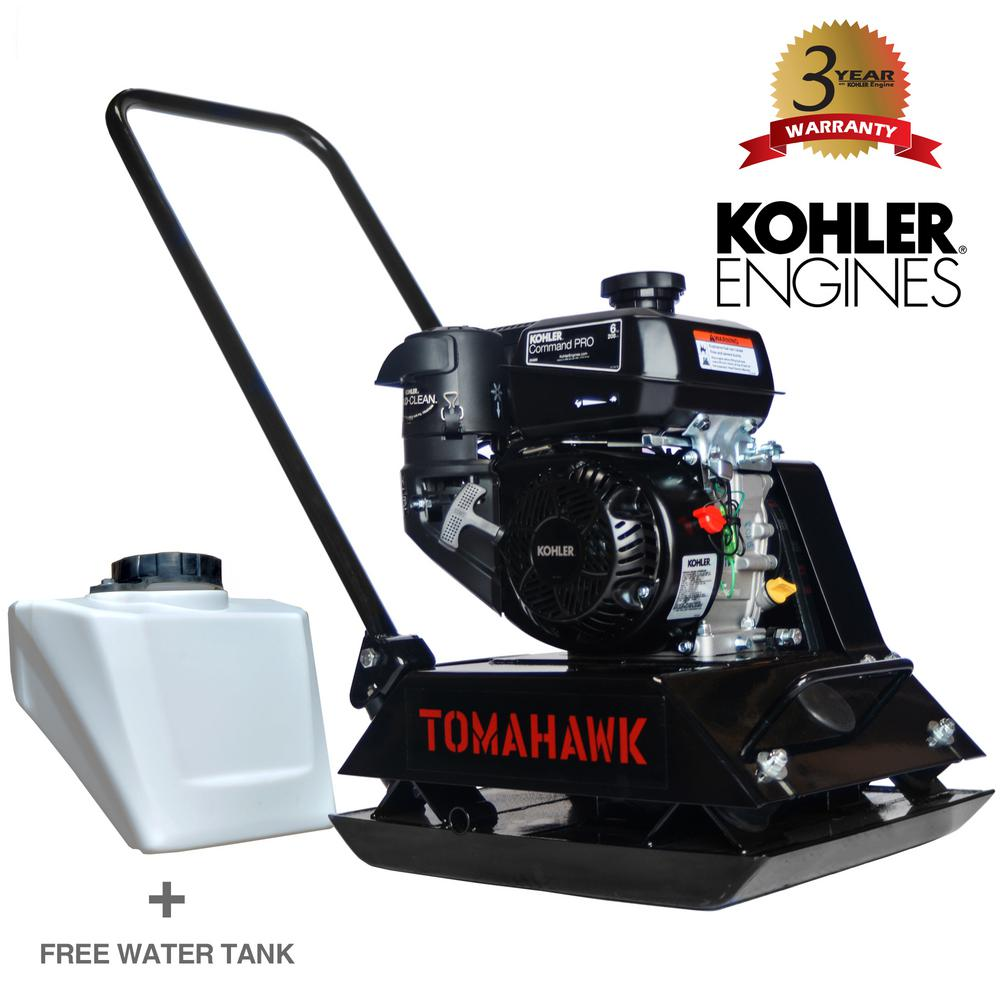 Tomahawk Power 6 HP Kohler Vibratory Plate Compactor for Soil Compaction  with 3 Year Warranty