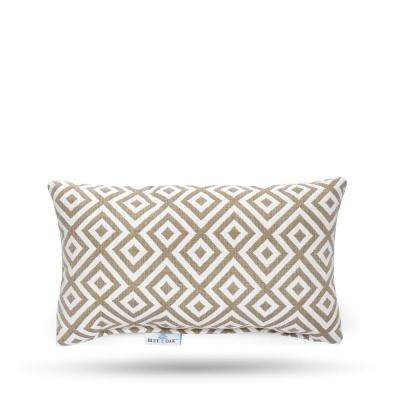 Outdura Elements Burlap Rectangular Lumbar Outdoor Throw Pillow (2-Pack)