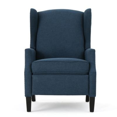 Wescott Traditional Navy Blue Fabric Recliner with Stud Accents