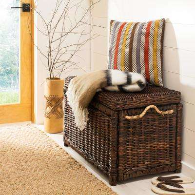 Jacob 30 in. Brown Wicker Storage Trunk