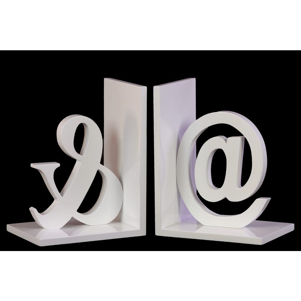 7.75 in. H Alphabet Decorative Sculpture in White Coated Finish