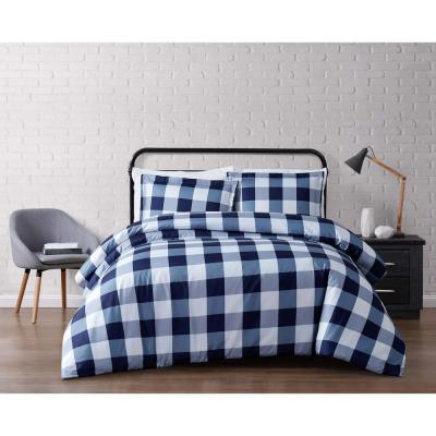 Everyday 3-Piece Navy Queen Duvet Cover Set