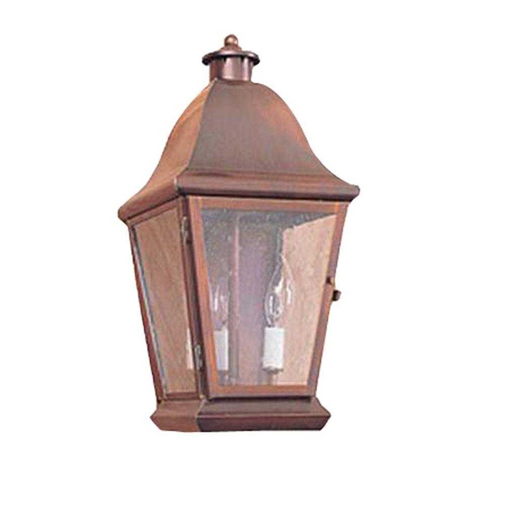 Illumine 18 in. 3-Light Matte Bronze Outdoor Lantern