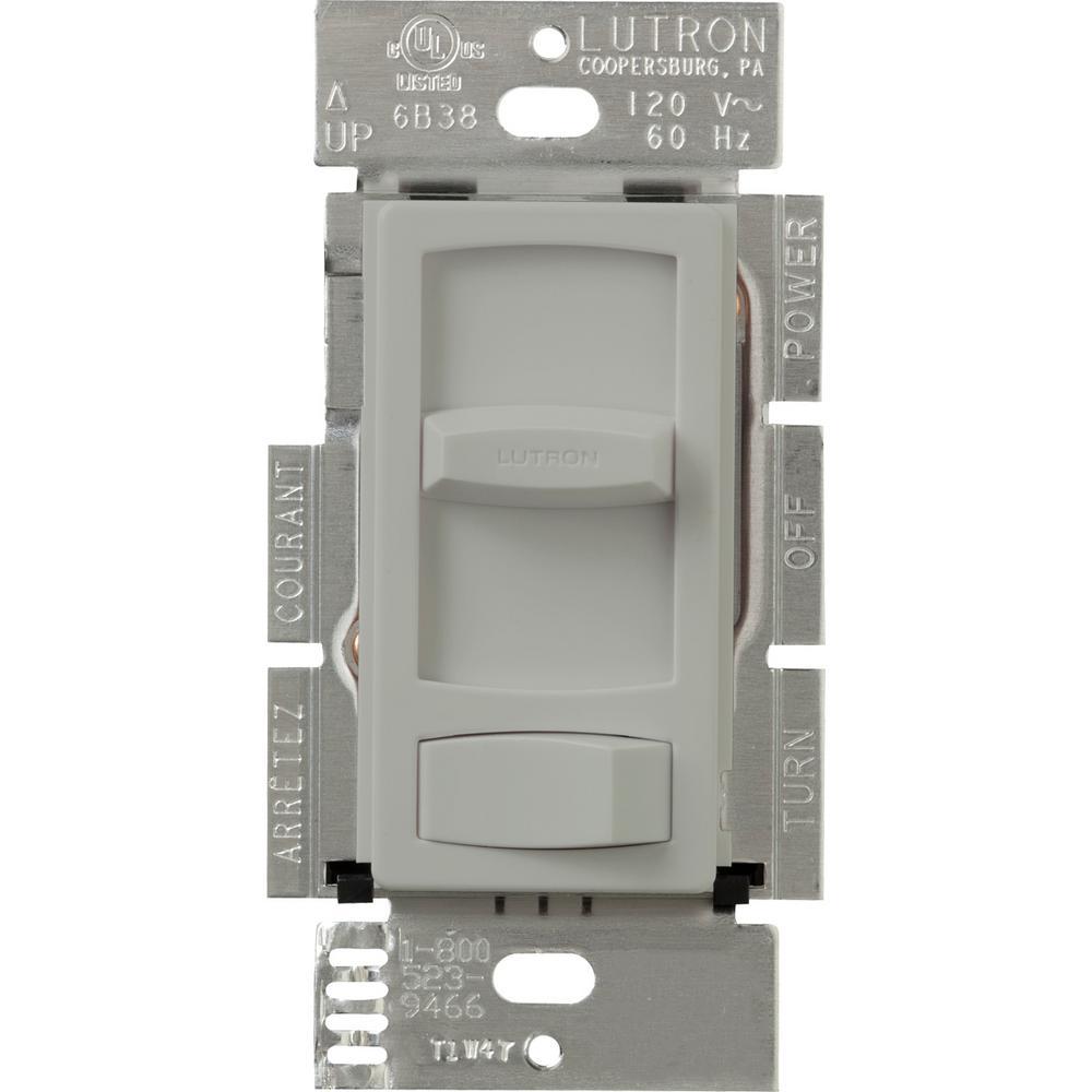 Lutron Skylark Contour 600-Watt 3-Way Preset Dimmer - Gray