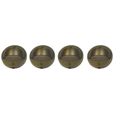 6-Watt Brass Outdoor Integrated LED 2700K White Warm Landscape Deck Light (4-Pack)