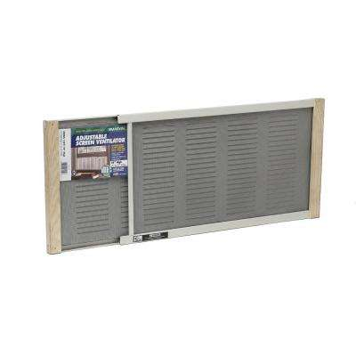 37 in. x 10 in. Aluminum Adjustable Screen Ventilator