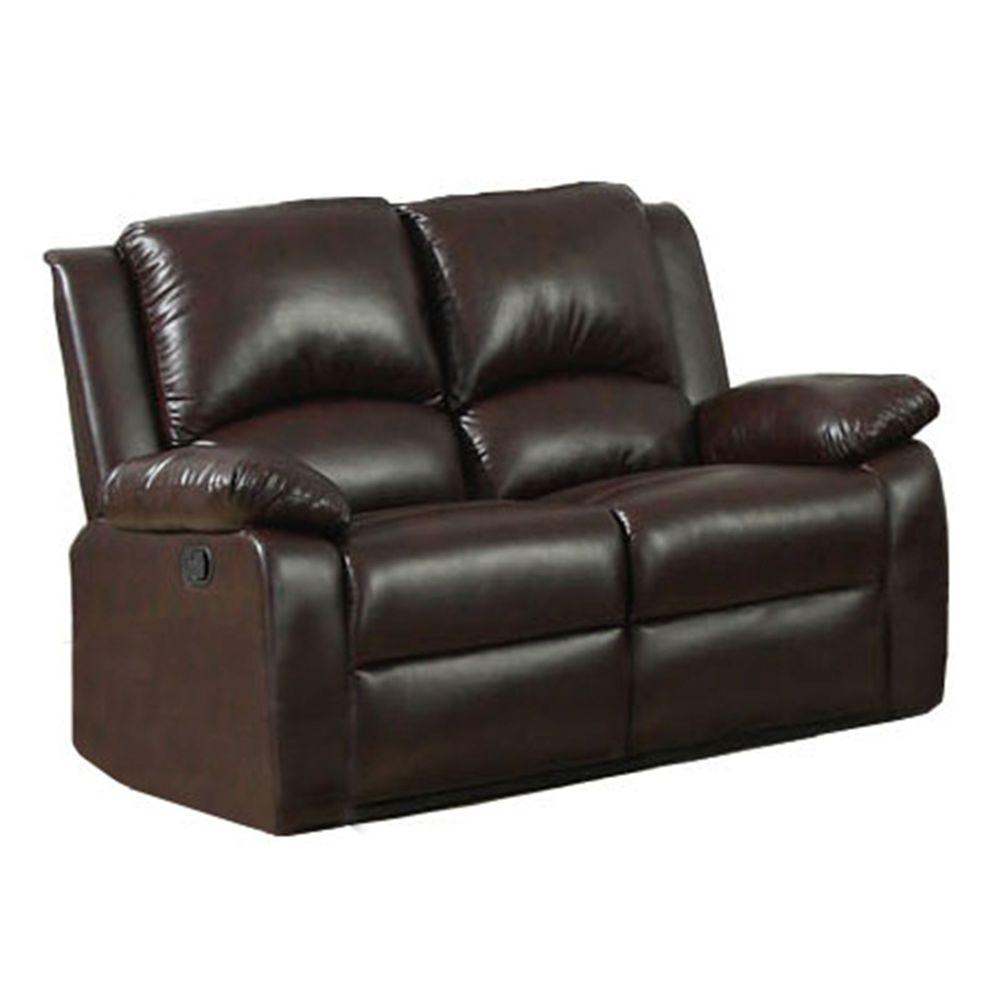 Furniture of america oxford rustic dark brown leatherette for Furniture of america