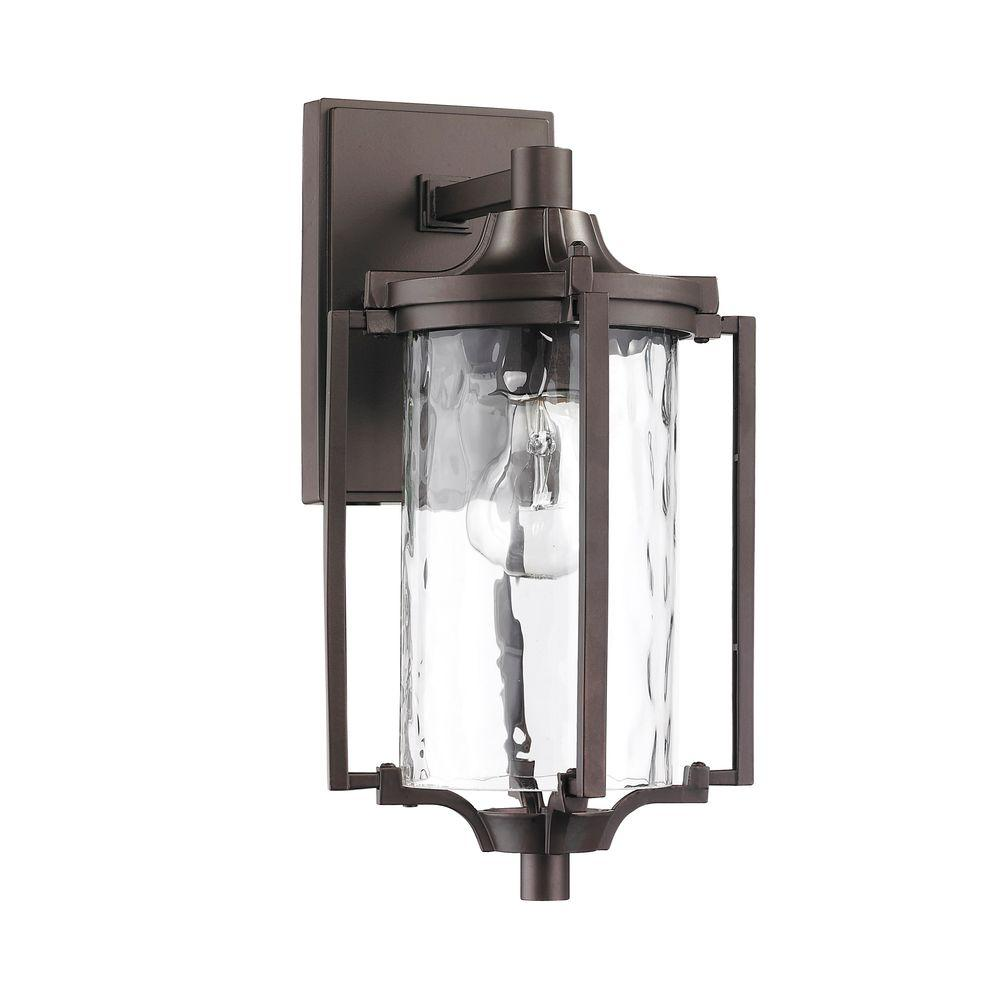 Chloe Lighting Chatelet Transitional 1-Light Outdoor Rubbed Bronze Wall Sconce