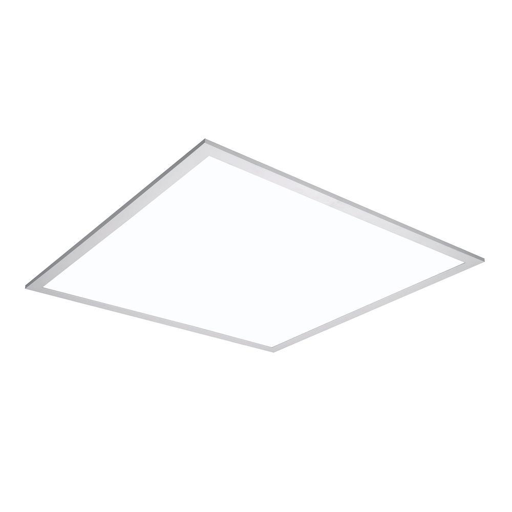White Integrated Led Flat Panel Troffer Light Fixture