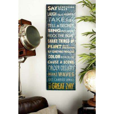 12 in. x 36 in. Shabby Chic Inspirational Wall Decor (Set of 2)