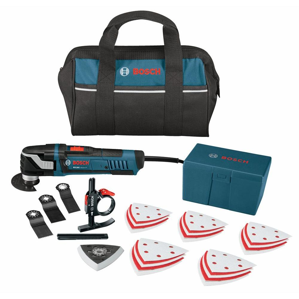 bosch 3 amp multi x corded oscillating tool kit 31 piece mx30ec 31 the home depot. Black Bedroom Furniture Sets. Home Design Ideas