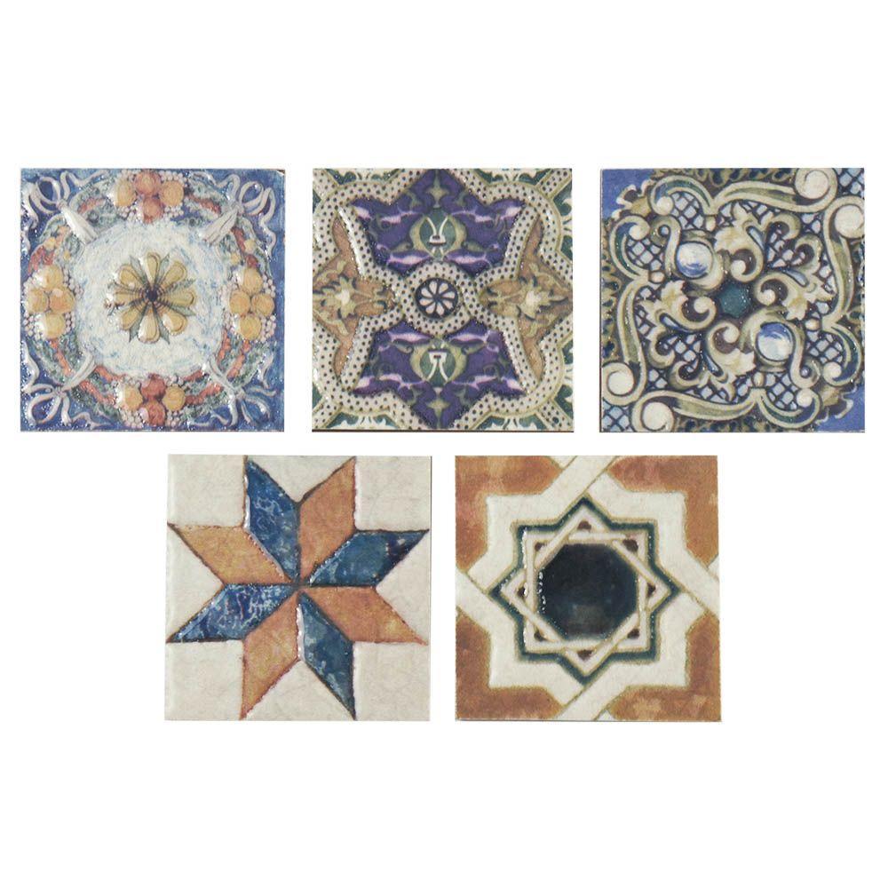 Floor Accents: Merola Tile Avila Arenal Taco 2-3/4 In. X 2-3/4 In