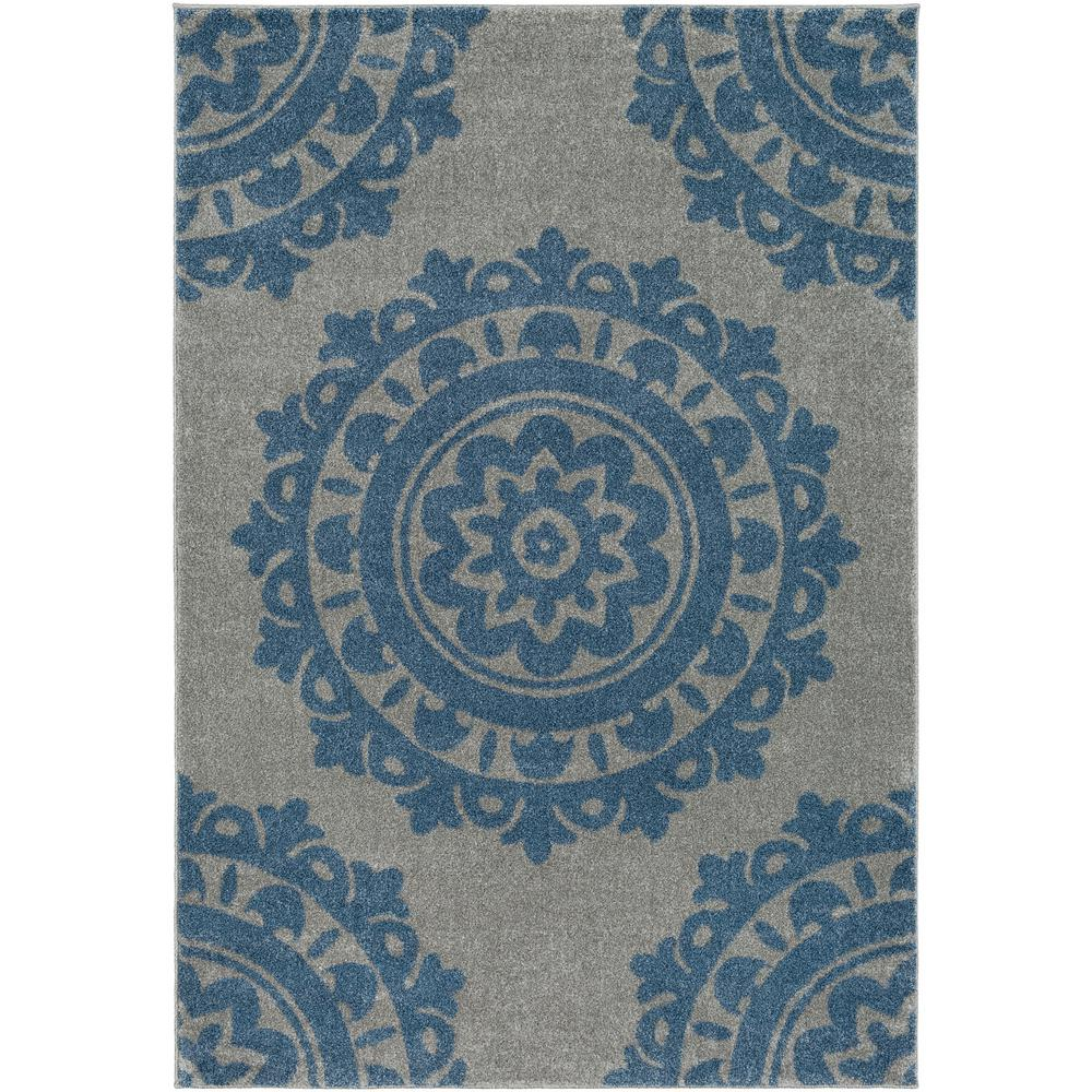 Artistic weavers solaris bright blue 5 ft 3 in x 7 ft 6 for Bright blue area rug