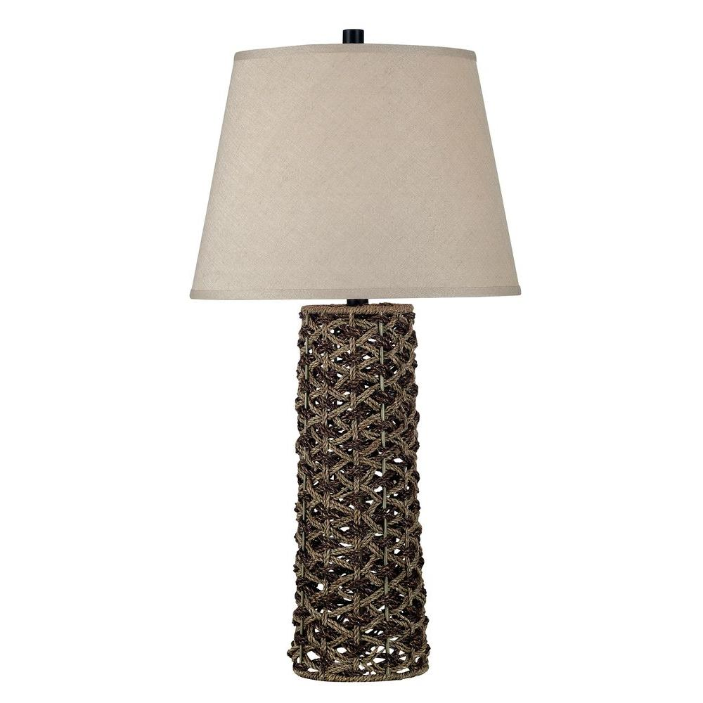 Kenroy Home Jakarta 30 in. Light and Dark Rope Table Lamp