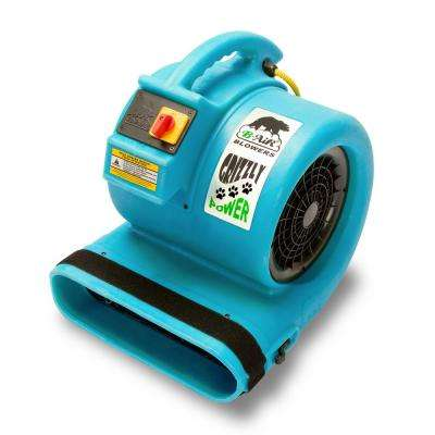 1 HP Air Mover for Water Damage Restoration Carpet Dryer Floor Blower Fan in Turquoise