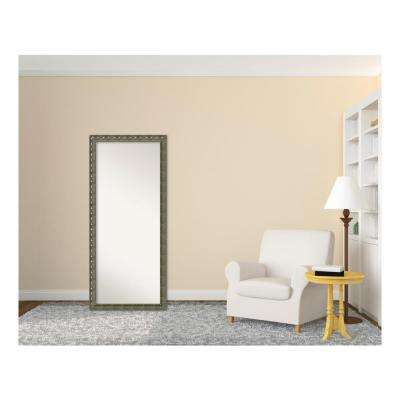 Barcelona Champagne Wood 28 in. W x 64 in. H Traditional Floor/Leaner Mirror