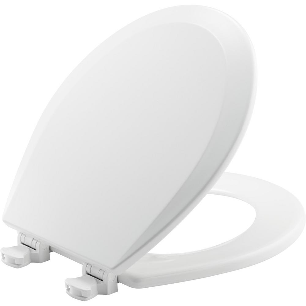 BEMIS Lift-Off Round Closed Front Toilet Seat in Cotton White
