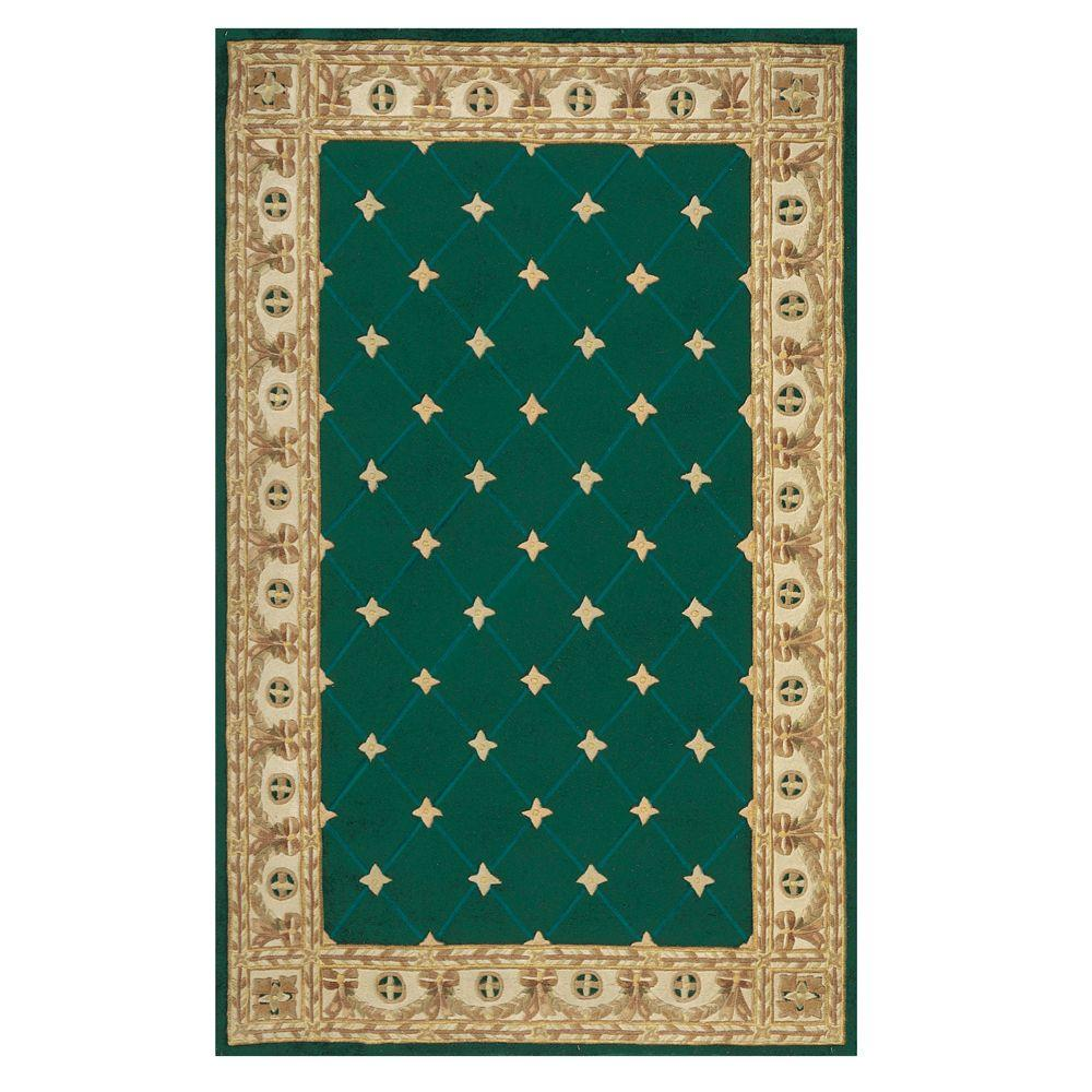 Home Decorators Collection Windsor Hunter Green 1 ft. 9 in. x 2 ft. 9 in. Accent Rug