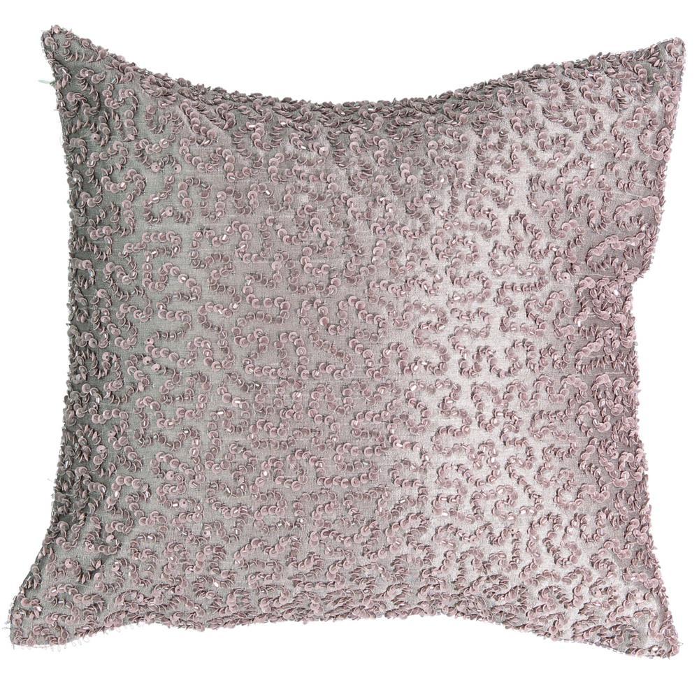 Henriette Paisley Polyester Square Lavender Decorative Pillow