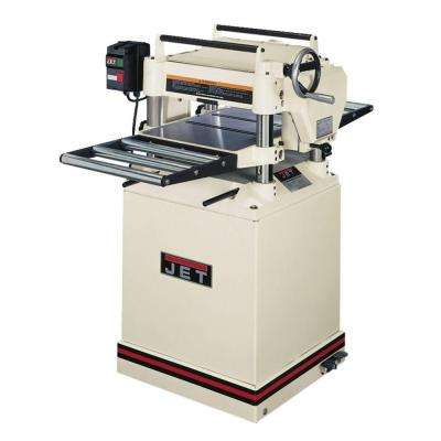 230-Volt JWP-15DX 3 HP 15 in. Industrial Woodworking CS Planer with Quick Change Knives and Closed Stand, 2-Speed Feed