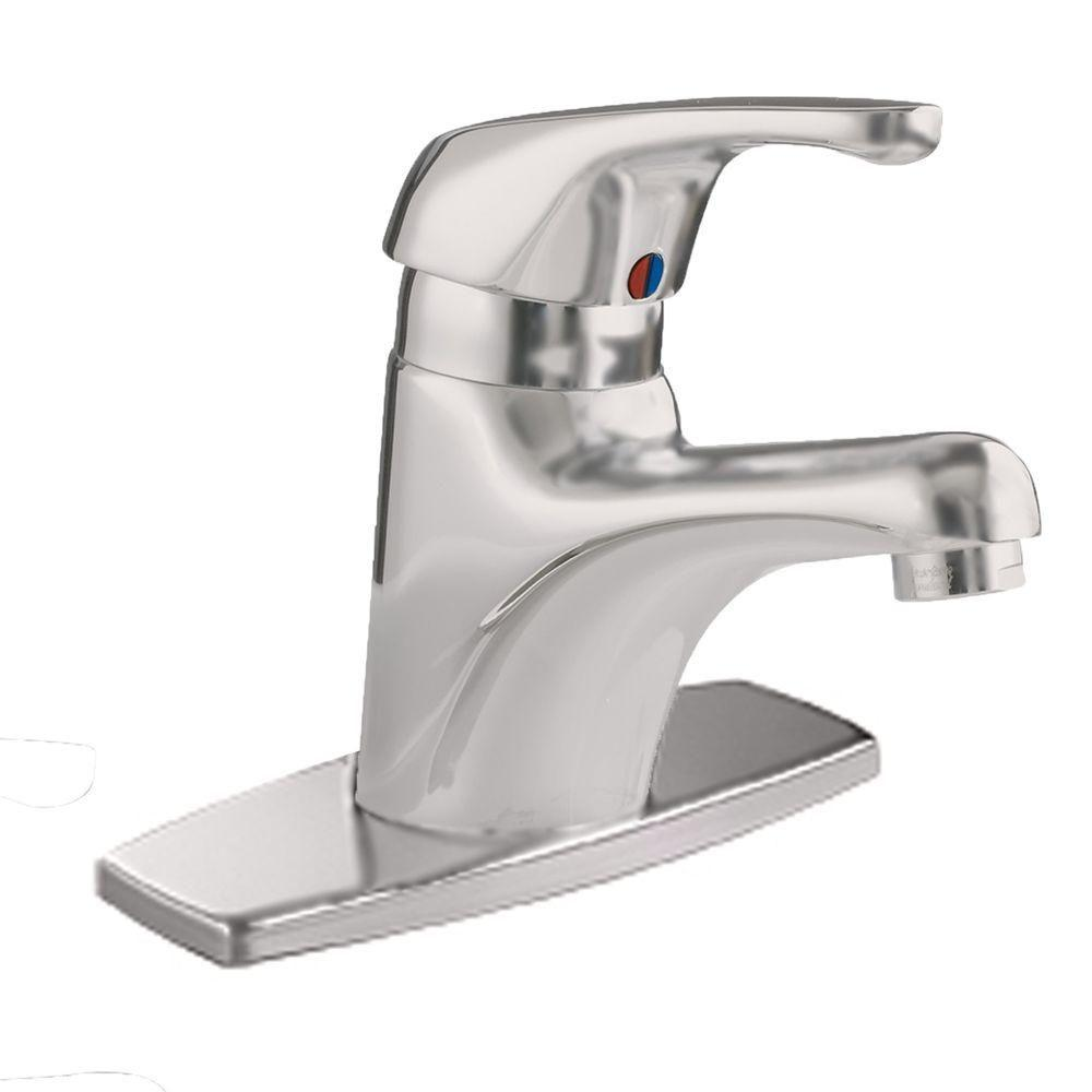 Seva Monoblock Single Hole Single Handle Bathroom Faucet in Satin Nickel