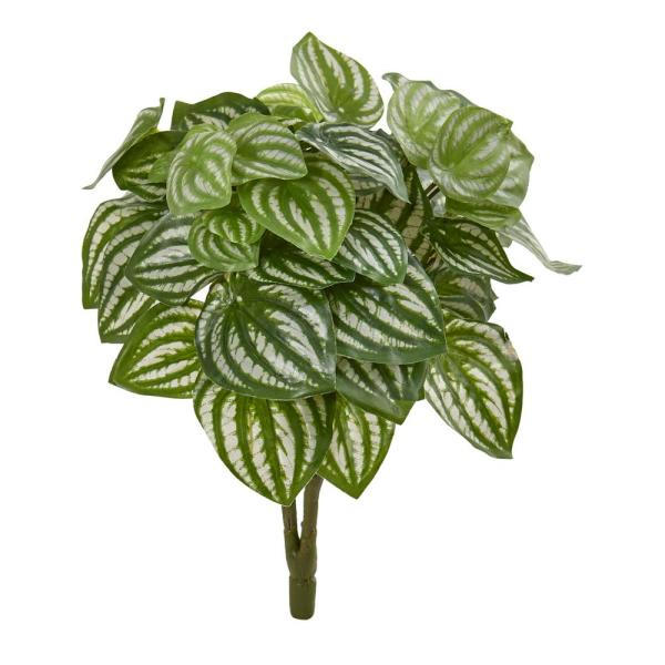 Nearly Natural Indoor 14 Watermelon Peperomia Artificial Plant (Set of 6)