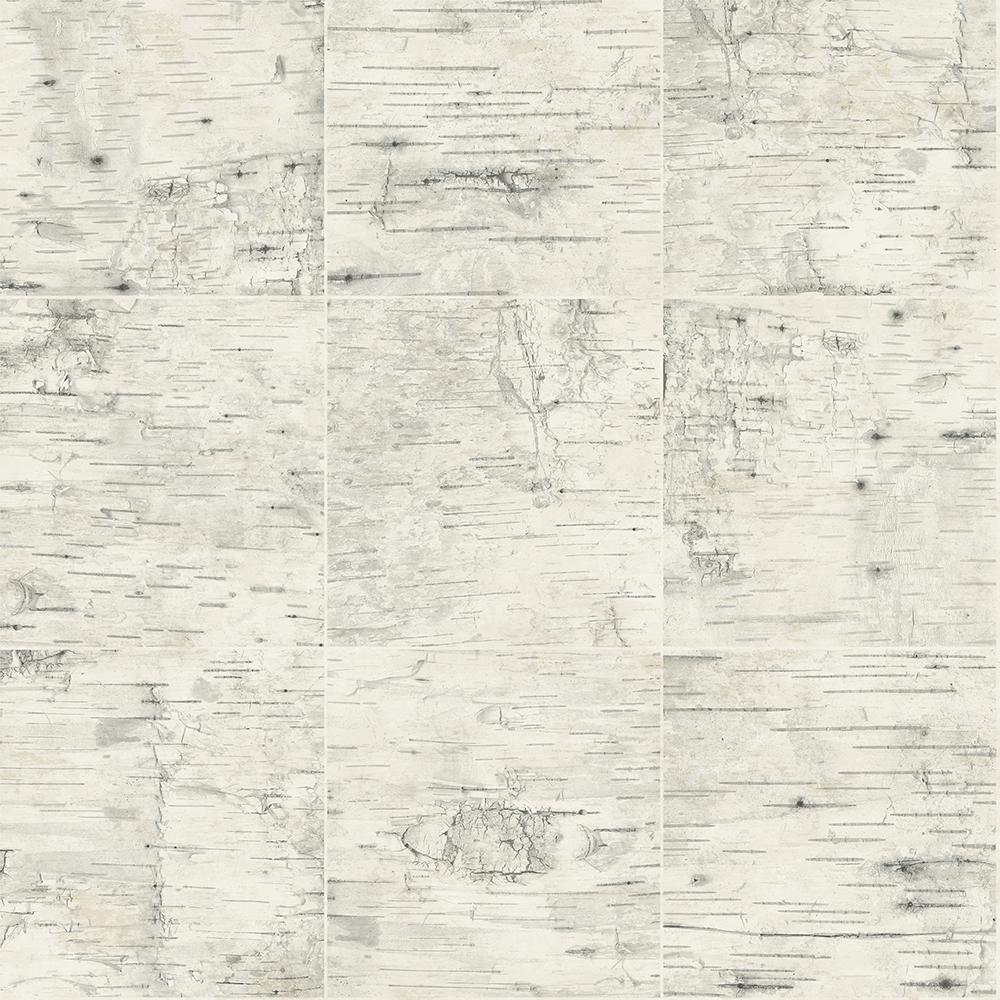 Champlain Cream Grid Wood Cream Wallpaper Sample