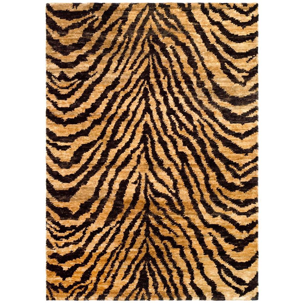 Bohemian Natural/Black 6 ft. x 9 ft. Area Rug