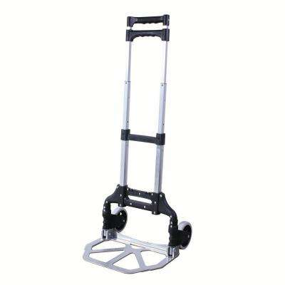 120 lbs. Capacity Lightweight Aluminum Folding Hand Truck Equipment Carrier with 5 in. Wheels