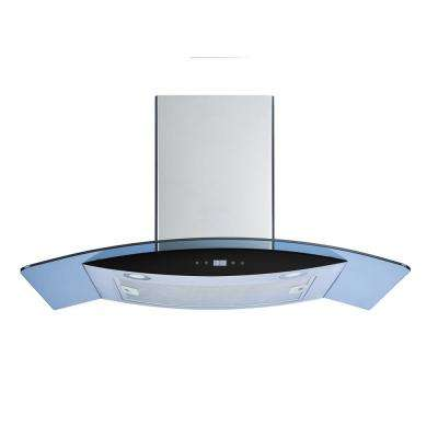 30 in. Convertible Wall Mount Range Hood in Stainless Steel/Tempered Glass with Touch Control and Aluminum Filter
