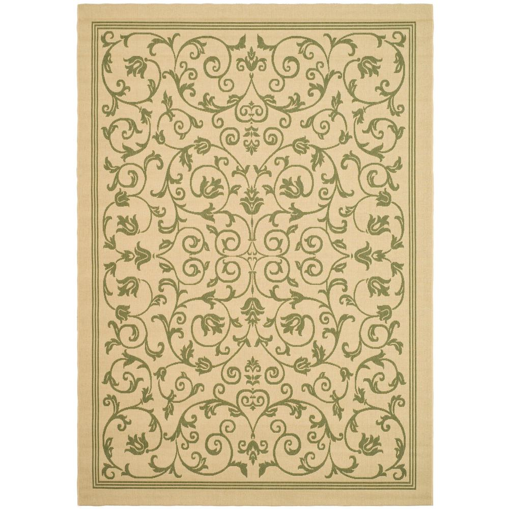 Courtyard Natural/Olive 9 ft. x 12 ft. Indoor/Outdoor Area Rug