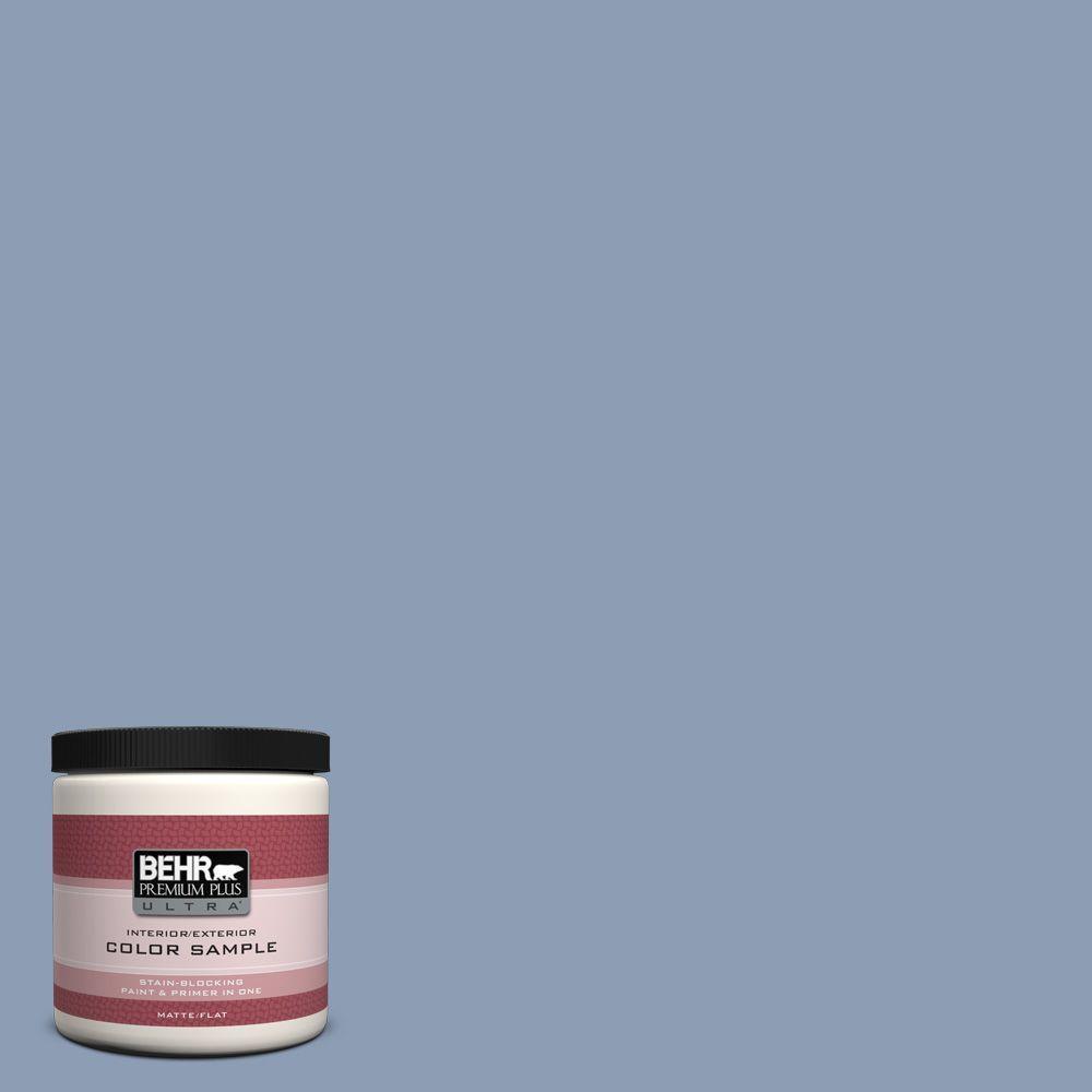 Behr Premium Plus Ultra 8 Oz Pmd 72 Periwinkle Dusk Matte Interior