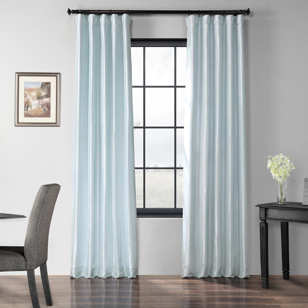 Blue Moon Blackout Faux Silk Taffeta Curtain - 50 in. W x 120 in. L