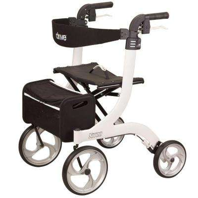 Nitro 4-Wheel Rollator in White Frame