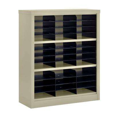 42 in. H x 34.5 in. W x 13 in. D Steel Commercial Literature Organizer Shelving Unit in Putty
